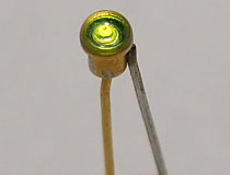 Green Straight Pin LED (Unknown P/N)