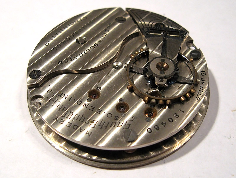 South Bend Size 18 Pocketwatch Movement