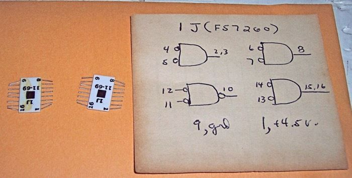 Western Electric 1J Integrated Circuit Pinouts
